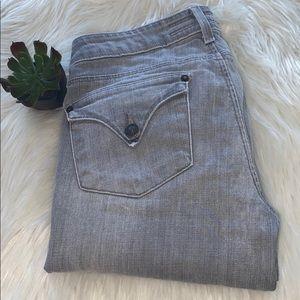 Hudson Flap Pocket Gray Distressed Jeans